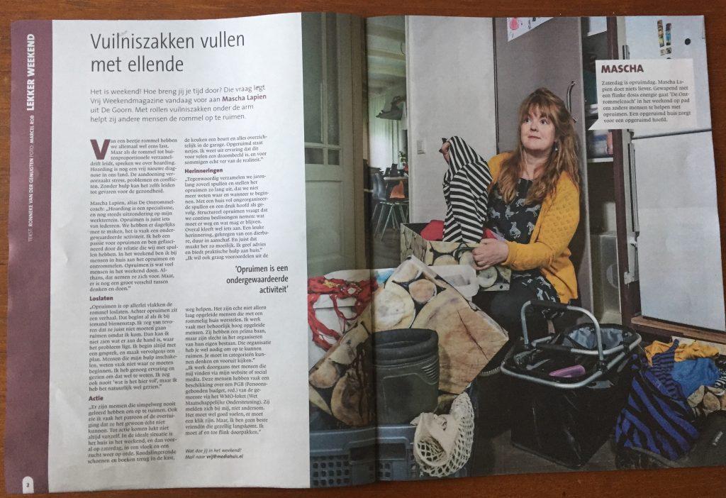 Vuilniszakken vullen met ellende VRIJ weekendmagazine